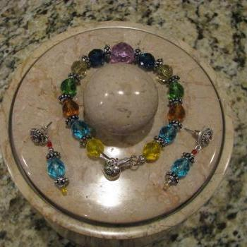 10 Off Jewel-of-the-Nile bracelet with Matching Ornate Swarovski Stud Earrings FREE Shipping